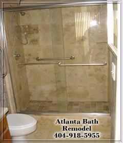 Atlanta Shower Remodel Travertine Shower Ideas