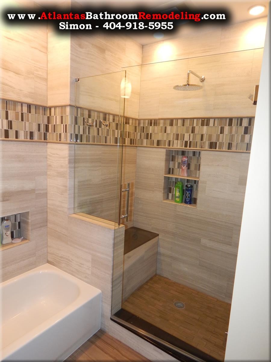 Chamblee Travertine Shower Remodeling Company