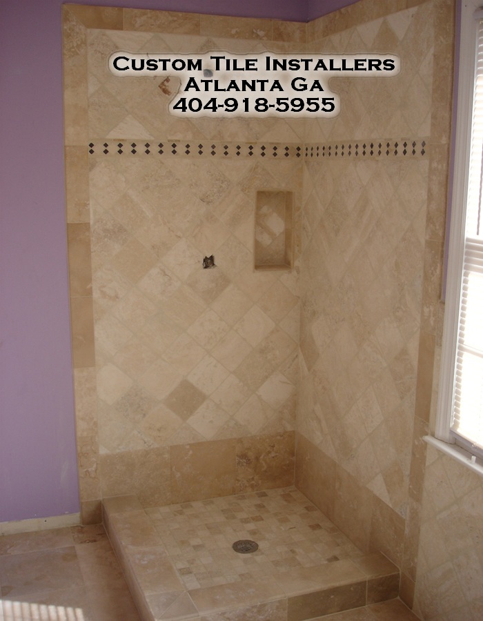 Atlanta Shower Remodel Travertine Shower Ideas Pictures Images