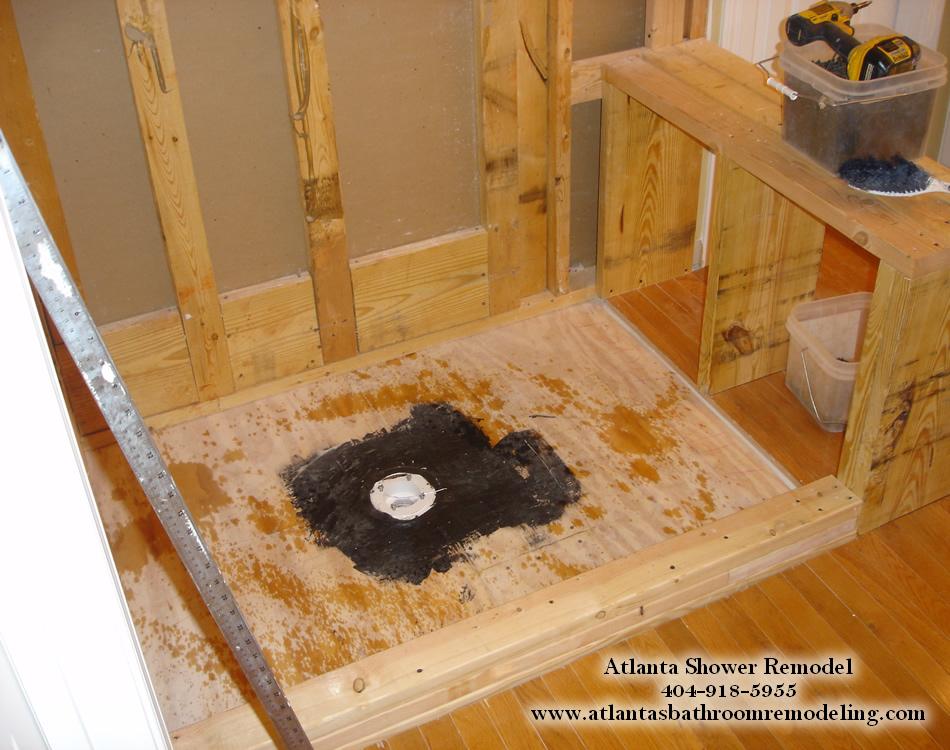 Atlanta Travertine Shower Remodeling Ideas and